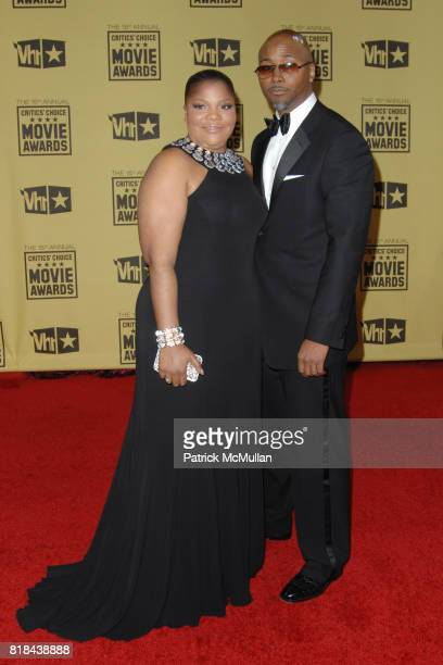 Mo'Nique and Sidney Hicks attend 2010 Critics Choice Awards at The Palladium on January 15 2010 in Hollywood California