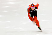Monique Angermuller of Germany competes in the 1000m Ladies race on Day 2 of the Essent ISU World Cup Speed Skating Championships 2013 at Thialf...