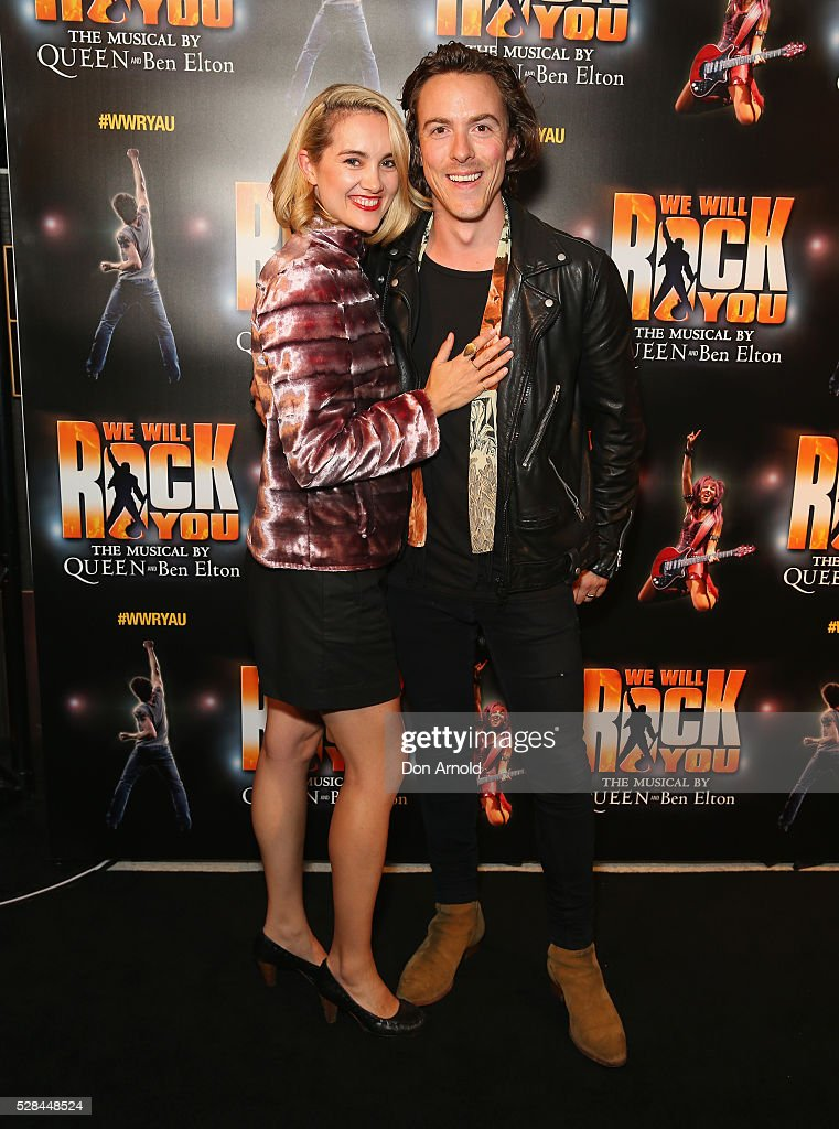 Monique Blackwell and Tim Blackwell arrives ahead of We Will Rock You Opening Night at Lyric Theatre, Star City on May 5, 2016 in Sydney, Australia.