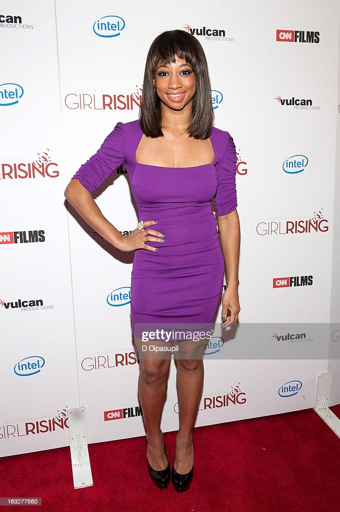 Monique Coleman attends the 'Girl Rising' premiere at The Paris Theatre on March 6, 2013 in New York City.