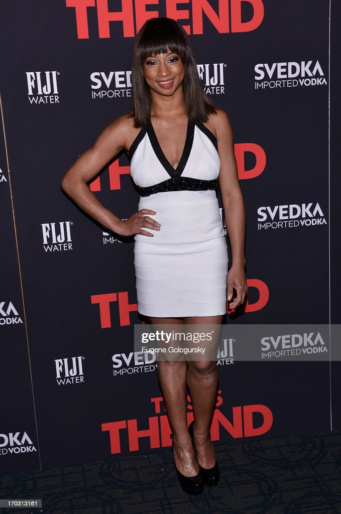 <a gi-track='captionPersonalityLinkClicked' href=/galleries/search?phrase=Monique+Coleman&family=editorial&specificpeople=614618 ng-click='$event.stopPropagation()'>Monique Coleman</a> attends 'This Is The End' New York Premiere at Landmark's Sunshine Cinema on June 10, 2013 in New York City.