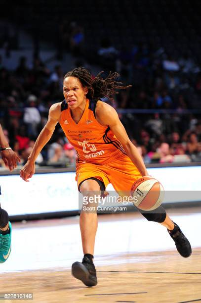 Monique Currie of the Phoenix Mercury drives to the basket during the game against the Atlanta Dream on July 25 2017 at Hank McCamish Pavilion in...