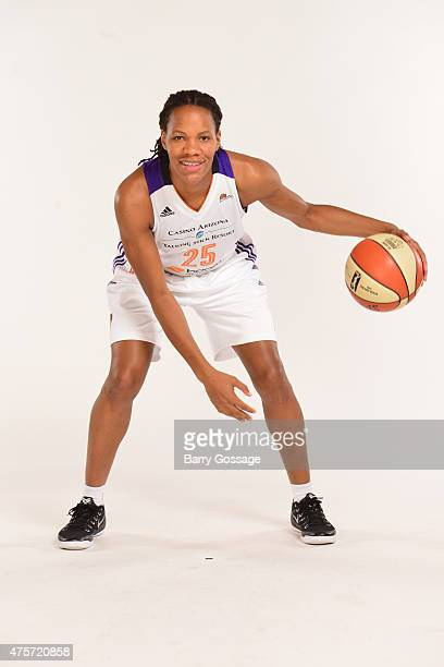 Monique Currie of the Phoenix Mercury poses for photos during the Phoenix Mercury Media Day on June 1 2015 in Phoenix Arizona NOTE TO USER User...
