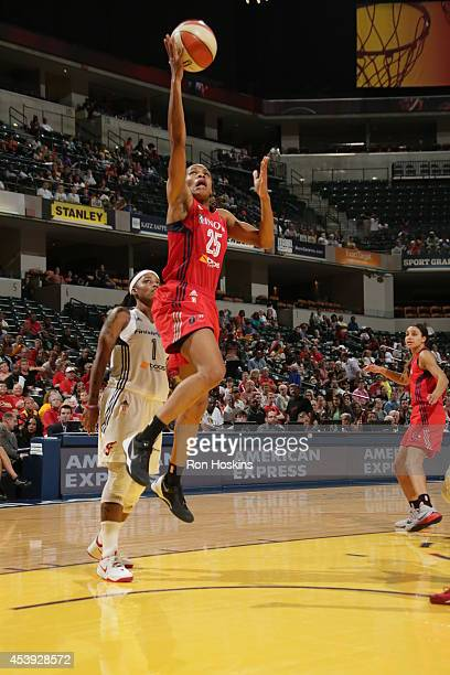 Monique Currie of the Washington Mystics drives to the basket against the Indiana Fever in Game One of the Eastern Conference Semifinals during the...