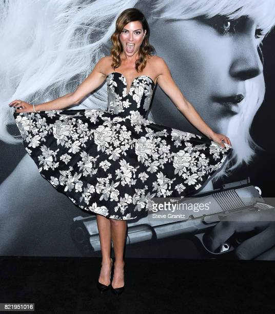 Monique Ganderton arrives at the Premiere Of Focus Features' 'Atomic Blonde' at The Theatre at Ace Hotel on July 24 2017 in Los Angeles California