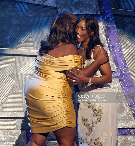Mo'Nique host and Angela Bassett during 4th Annual BET Awards Show at Kodak Theatre in Hollywood California United States