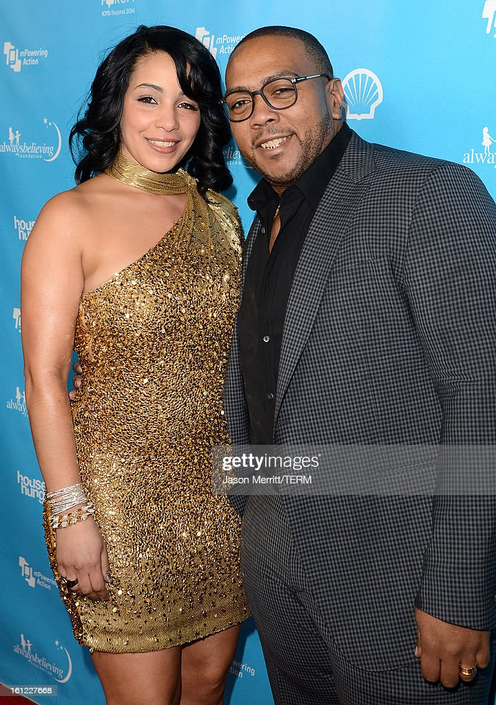 Monique Idlett Mosley and Timbaland join mPowering Action, a global mobile youth movement at Grammy Week launch, featuring performances by Timbaland and Avicii at The Conga Room at L.A. Live on February 8, 2013 in Los Angeles, California.