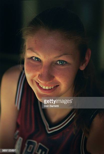 Monique Kettler a senior from St Margarets school is a top scorer in her small–school prep basketball division Portrait in the gym Capistrano Valley...