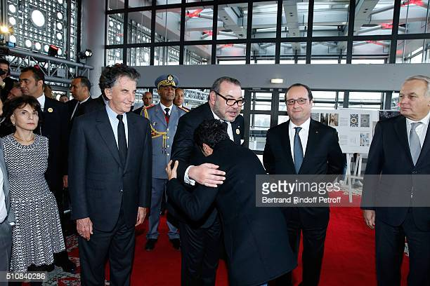 Monique Lang her husband President of the 'Institut du Monde Arabe' Jack Lang King Mohammed VI of Morocco Actor Jamel Debbouze French President...