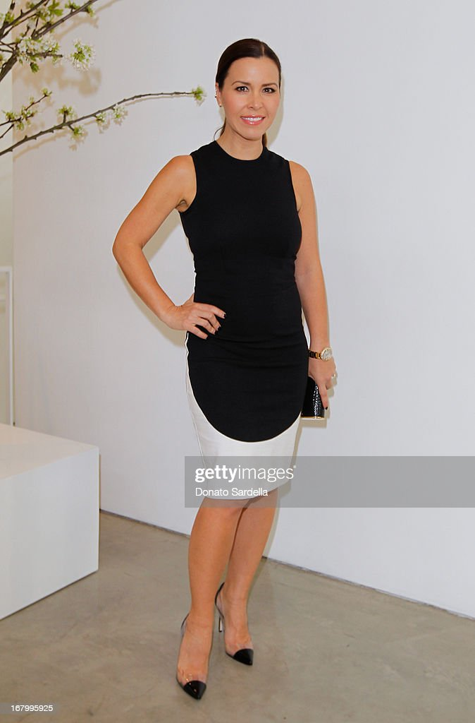 Monique Lhuillier attends a cocktail reception hosted by Ferragamo to announce the inaugural opening gala for the Wallis Annenberg Center for the Performing Arts at Gagosian Gallery on May 3, 2013 in Beverly Hills, California.
