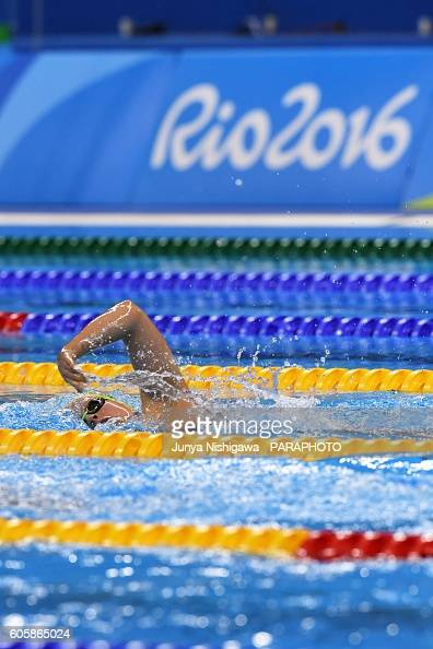 Monique of AUSTRALIA competes in the WOMEN'S 400M FREESTYLE S10 HEAT on day 8 of the Rio 2016 Paralympic Games at Olympic Aquatics Stadium on...
