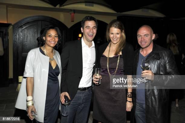 Monique Pean Anne Vincent and Simon Walton attend The Luxury Collection Hotelsí Destination Guide Launch with Assouline at Del Posto 85 on April 29...
