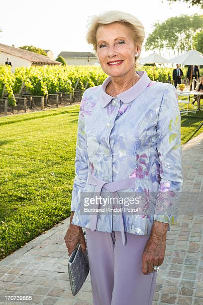 Monique Raimond attends the dinner of Conseil des Grand Crus Classes of 1855 hosted by Chateau Mouton Rothschild on June 16 2013 in Pauillac near...