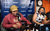 Mo'Nique visits 'Sway in the Morning' with Sway Calloway on Eminem's Shade 45 at SiriusXM Studios on April 20 2015 in New York City