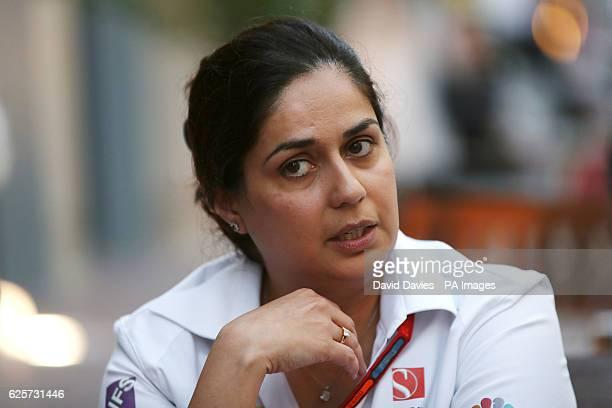 Monisha Kaltenborn Sauber Team Principal during the preview day at Yas Marina Circuit Abu Dhabi