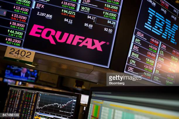 A monitor displays Equifax Inc signage on the floor of the New York Stock Exchange in New York US on Friday Sept 15 2017 Rediscovering their love for...