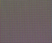 Red, green, and blue pixels on a LED panel