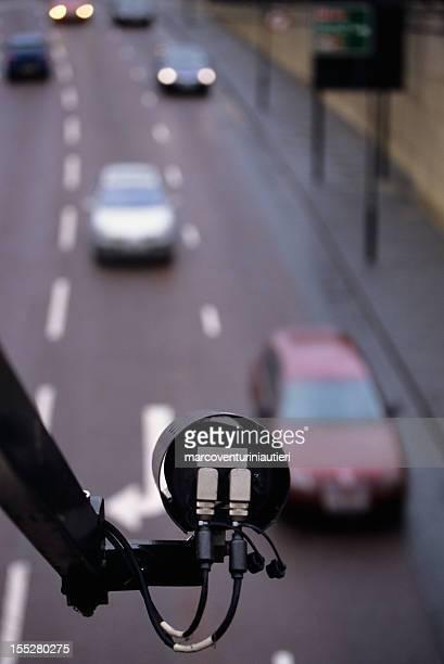 CCTV monitoring a motorway
