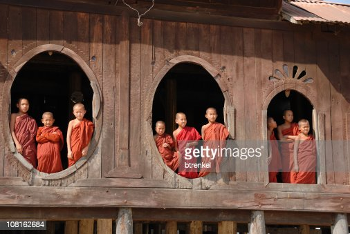 Monk class - novices looking out the window