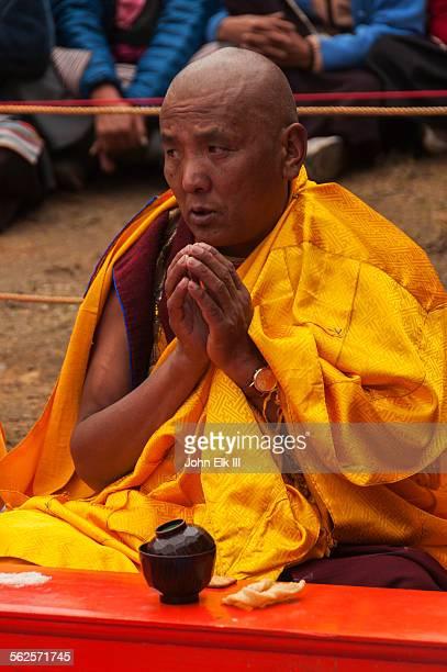 Monk during prayer service