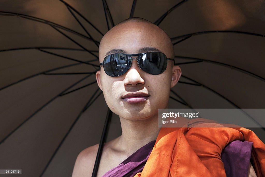 Monk fashion, Mandalay,  Myanmar : Stock Photo