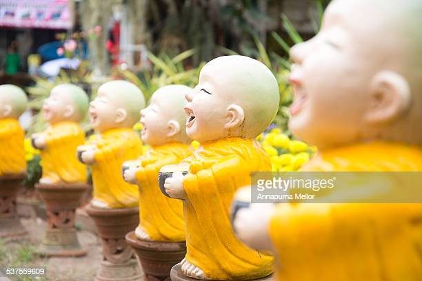 Monk gnomes at a monastery in Chiang Mai, Thailand