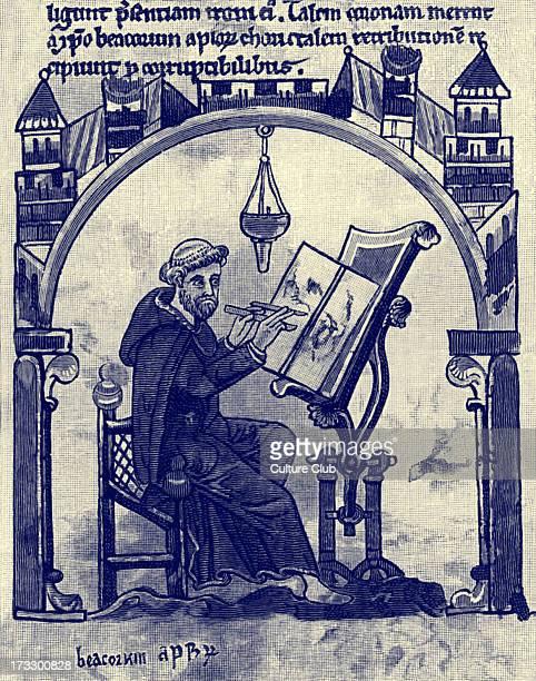 A Monk Illuminating c 1200