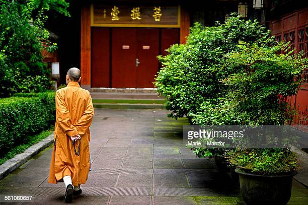 Monk in Mt Emei