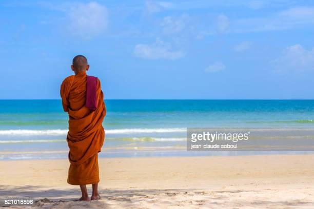 Monk, in Otres Beach (Sihanoukville city in Cambodia)