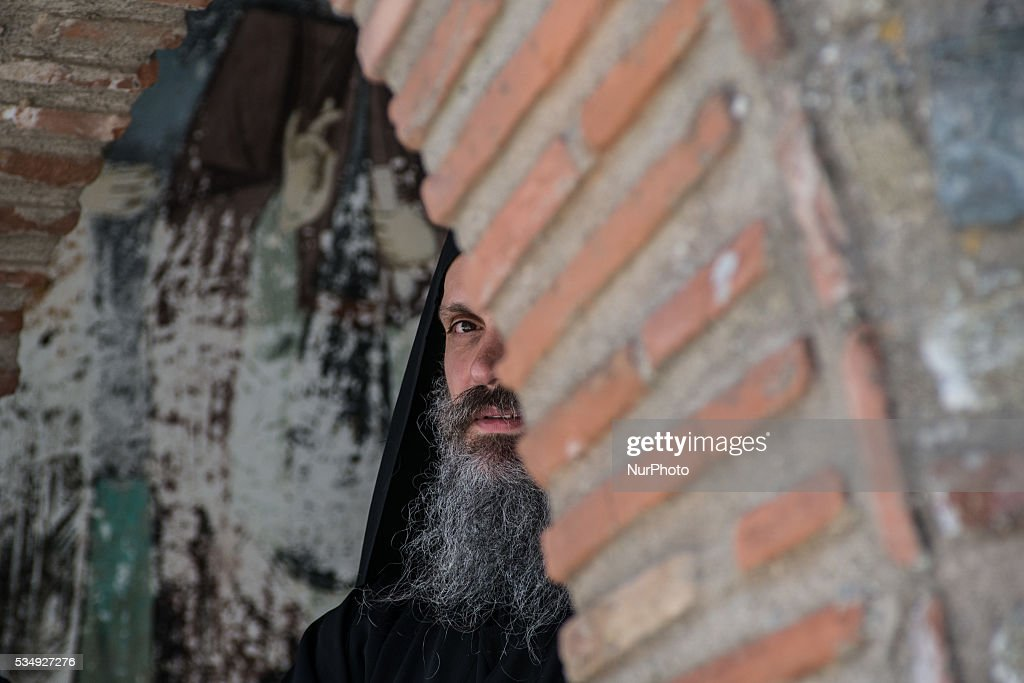 Monk of Mount Athos in Karyes, on May 28, 2016.