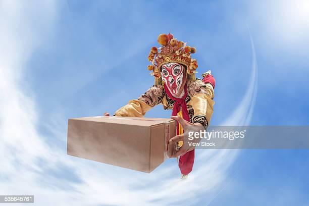 Monkey king delivering package