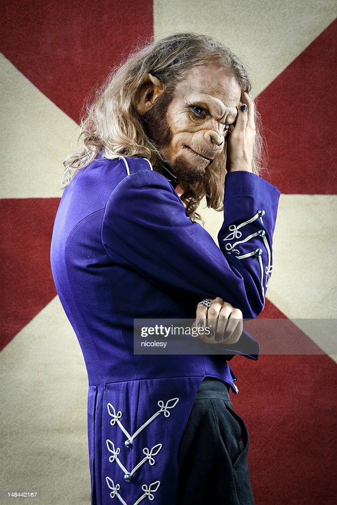 Monkey Man Circus Performer : Stock Photo