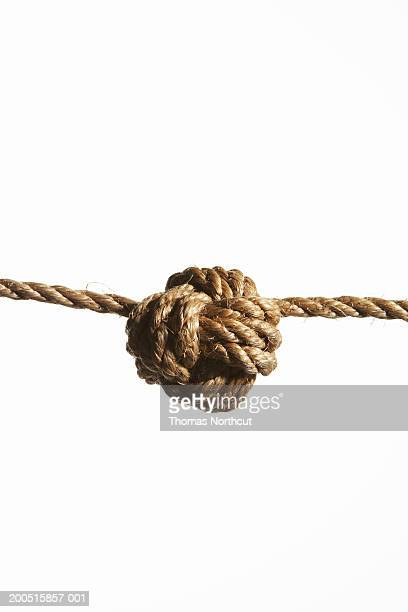 Monkey's fist knot in rope