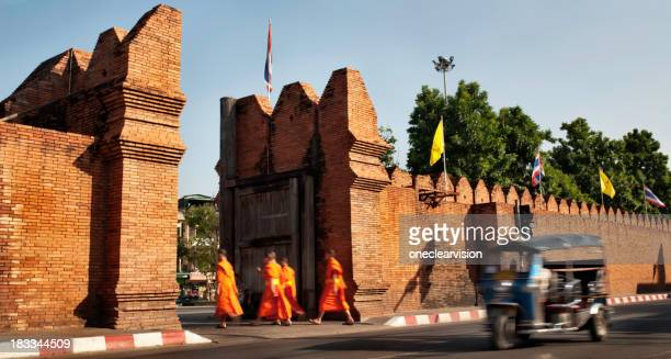 Monks and a Tuktuk in Chiang Mai, Thailand