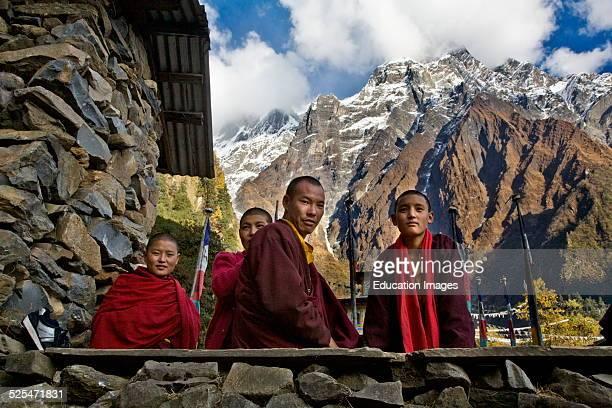 Monks And Nuns Live A Traditional Monastic Life Studying The Dharma At A Remote Tibetan Buddhist Monastery Nepal Himalala