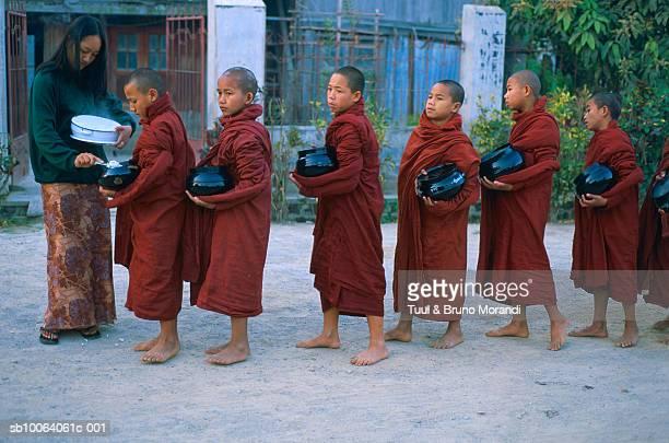 Monks at Shweyanpyay monastery