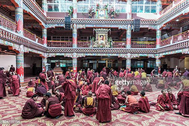 Monks in the Hall of Seda Buddhist Academy