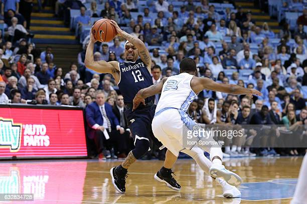 Monmouth's Justin Robinson and North Carolina's Seventh Woods The University of North Carolina Tar Heels hosted the Monmouth University Hawks on...