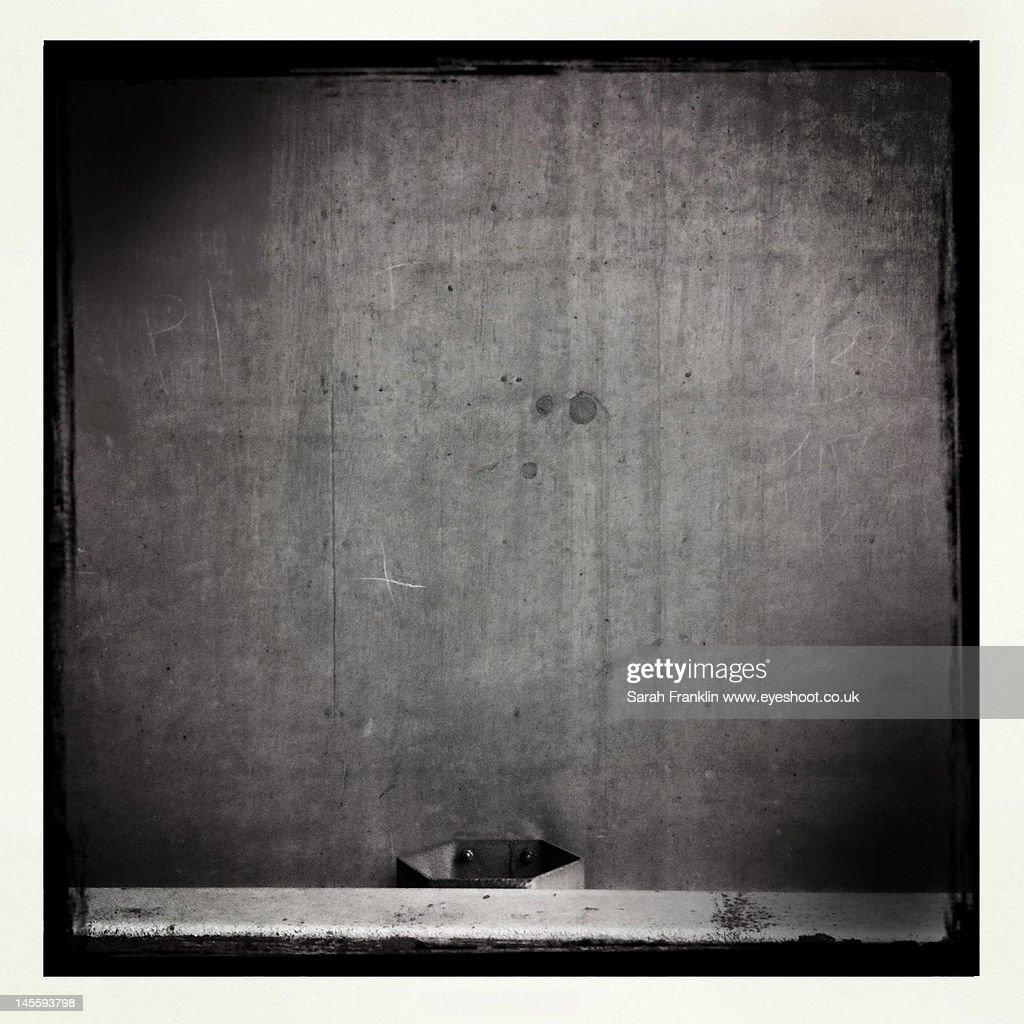 Monochrome concrete wall