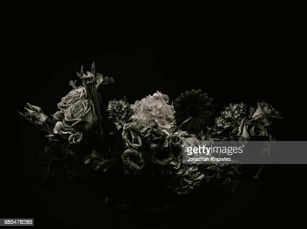 Monochrome flower arrangement