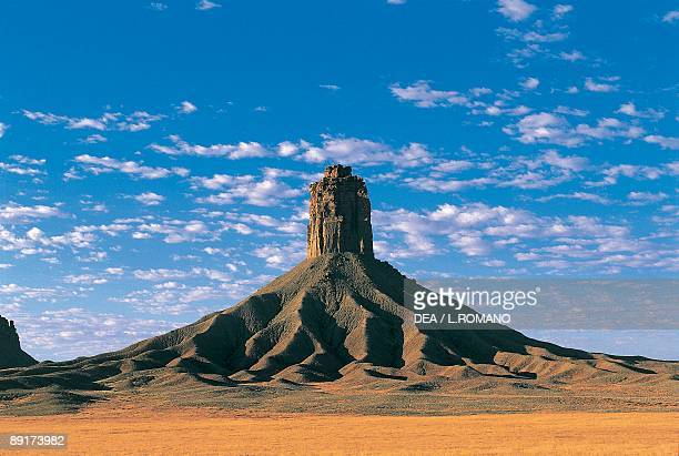 Monolith on a landscape Ute Mountain Tribal Park Colorado USA