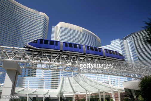 Monorail and CityCenter on Las Vegas Strip-Nevada