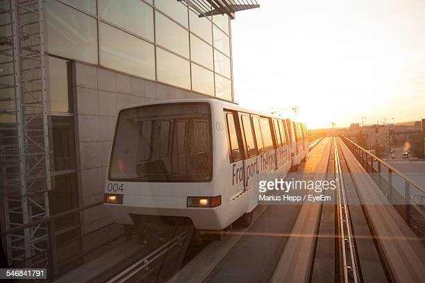 Monorail During Sunset
