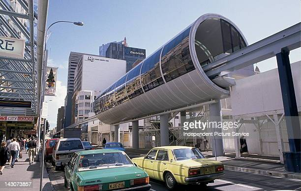 Monorail service or Tram Service in the central business district of Sydney Australia