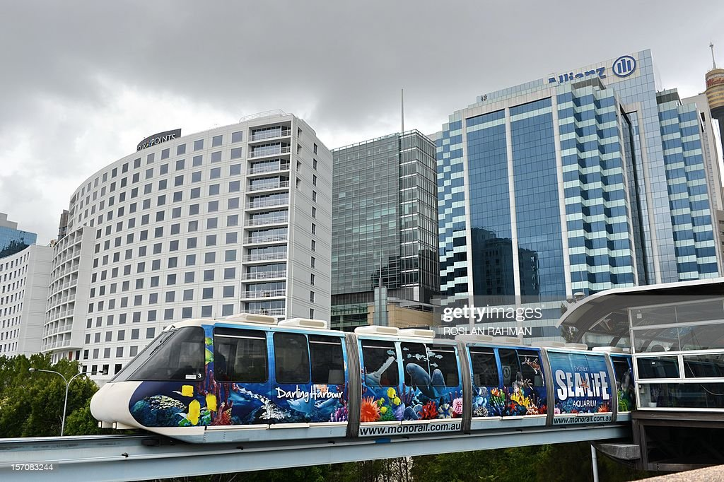 DATELINE - A monorail train is pictured near Sydney's Darling Harbour on November 15, 2012.