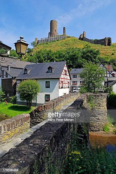 Monreal, old town and Löwenburg, Eifel, Germany