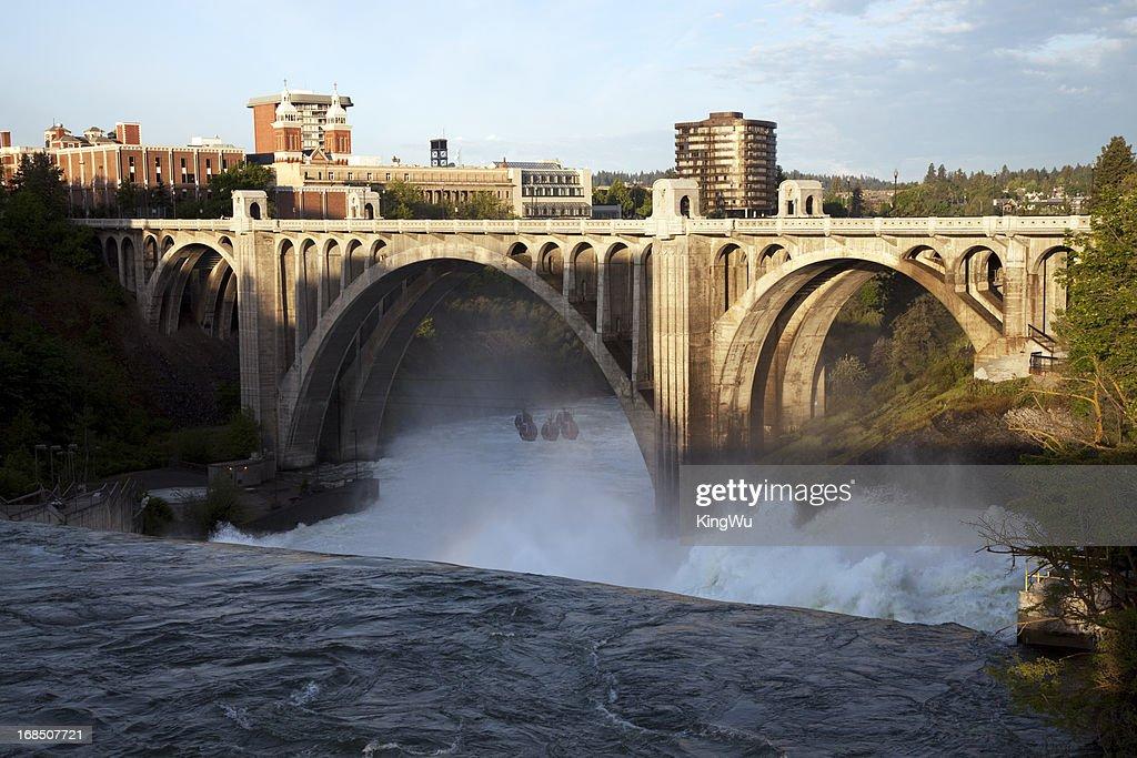 Monroe Street Bridge and Spokane Falls