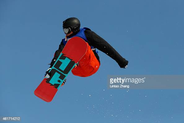 Mons Roisland of Norway in action during the13th World Snowboard Tour at Nanshan ski resort on January 18 2015 in Beijing China