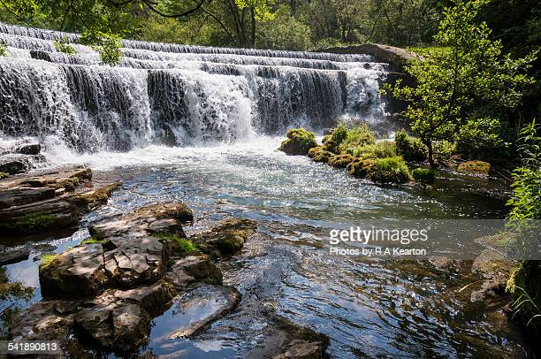 Monsal dale weir on a bright summers day