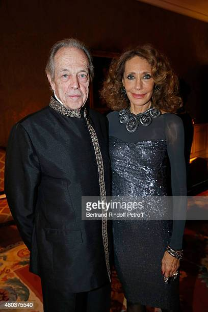 Monseigneur le Comte de Paris and Marisa Berenson attend The Children for Peace Gala at Cercle Interallie on December 12 2014 in Paris France
